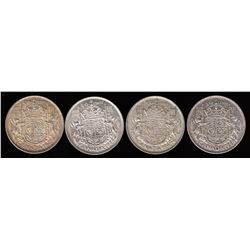 Lot of 4 Fifty Cents