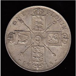Great Britain, 1913, One Florin