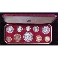 Great Britain - 10 Coin Proof Set, 1953