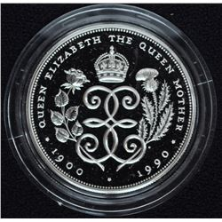 Queen Mother 90th Birthday Silver Crown, 1990