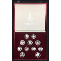 Russia - 1980 Moscow Olympic 28 Coin Silver Set