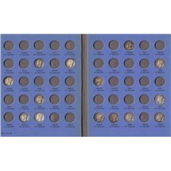 Mercury Head Dime Collection in Whitman Folder