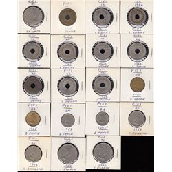 World Coin - Lot of 19 Fiji Coins