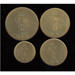 HBC East Main District Reproduction Set of Tokens