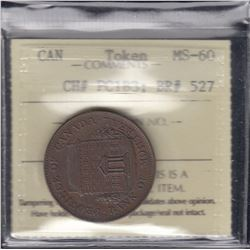 Province of Canada Halfpenny Bank Token
