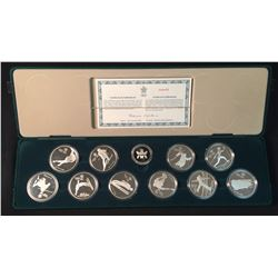 Canadian Olympic $20 Silver Set, 1988 - Set of Ten Coins