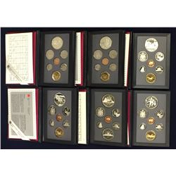Lot of 6 Canadian Proof Sets