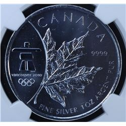 2008 Vancouver Olympics Silver Maple Leaf