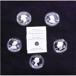 Complete Set of 2008-2009 Royal Vignette Silver $15 Coins
