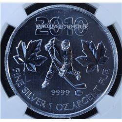 2010 Vancouver Olympics Hockey Silver Maple Leaf