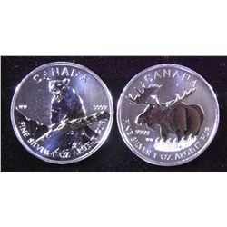 Lot of 2012 Silver Canada Bullion $5 Coins