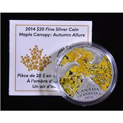 2014 $20 1oz Silver Coin MAPLE CANOPY AUTUMN ALLURE