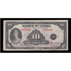 Bank of Canada $10, 1935 French