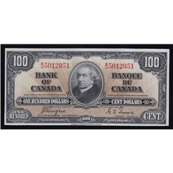 Bank of Canada $100, 1937