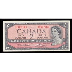 Bank of Canada $2, 1954 Radar