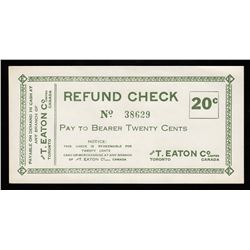 Eaton Co. 20 cents refund check