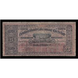 Government of Newfoundland 25 Cents Cash Note, 1910-11