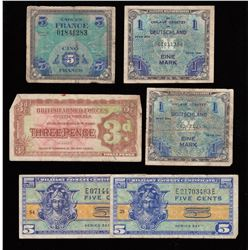 Military Payment Certificate Lot of 6