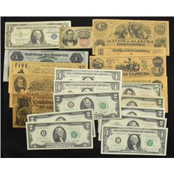 USA & Confederate Banknotes - Lot of 20