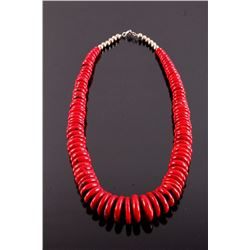 Navajo Discoidal Coral Necklace