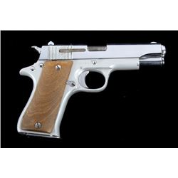 Star SA BKS Cal. 9mm 1911 Nickel Semi-Auto Pistol