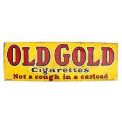 Old Gold Cigarettes Double Sided Tin Sign
