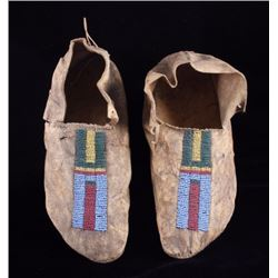Cheyenne Native American Beaded Moccasins c.1890