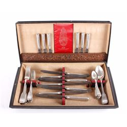 49 Piece Antique German Silver Cutlery Set