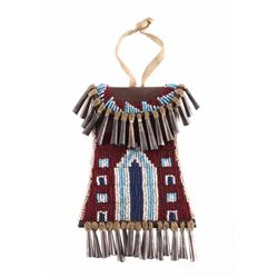 Kiowa Style Beaded Strike-a-Lite Bag