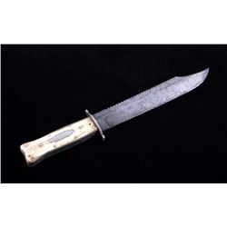 Will & Finck Bone Handled Bowie Knife 1850-1890's