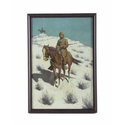 1902 Frederic Remington Framed Chromolithograph