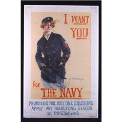 Original WWI Navy Recruiting Poster