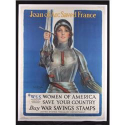 Original WWI Joan of Arc Poster