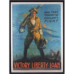 Original WWI Victory Liberty Loan War Poster