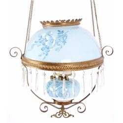 Clark Brothers & CO. Brass Victorian Hanging Lamp