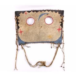 Sioux Painted Buffalo Hide Horse Mask