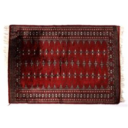 Persian Hand-Knotted Bokhara Woolen Rug