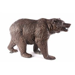 Prowling Cast Aluminum Bear Sculpture