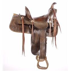 Custom Fremont Saddle CO. Tooled Saddle c. 1905