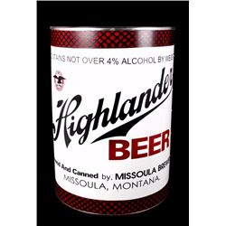 Highlander Beer Figural Can Advertising Sign