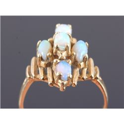 14K Gold and Fire Opal Ring