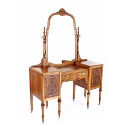 Landstrom Furniture Co. Burl Mahogany Vanity