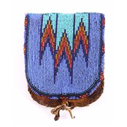 Sioux Native American Beaded Belt Bag c.1890