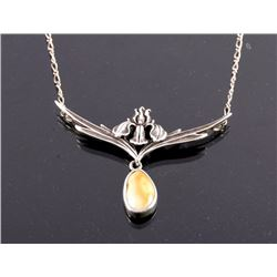 Montana Sterling Silver & Elk Ivory Necklace
