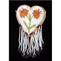 Plains Indian Beaded Pictorial Pouch