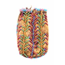 Northern Plains Indian Beaded Medicine Pouch