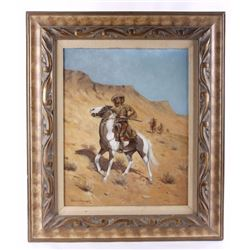 "Frederic B. Remington ""The Scout"" Oil Painting"