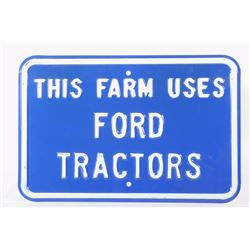 Ford Farm Tractor Sign New Old Stock RARE