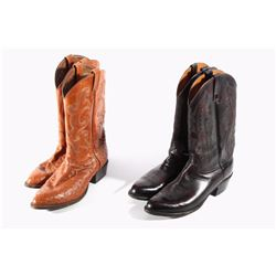 Tony Lama & Lucchese Ostrich &Leather Cowboy Boots
