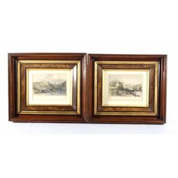 Ornate Picture Frames & Etchings 19th Century